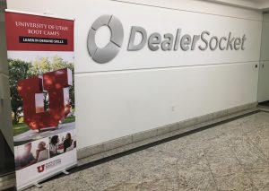 DealerSocket sign at networking event