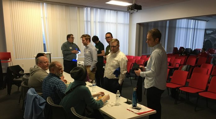 Trilogy-powered boot camp students meet with DealerSocket representatives at networking event